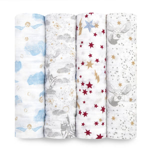 aden + anais Harry Potter 4pk Swaddles