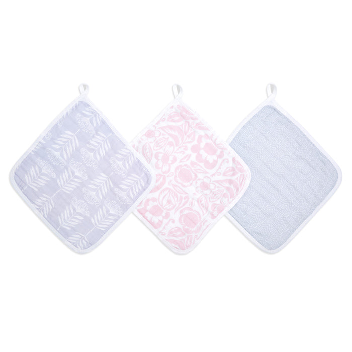 aden + anais essentials damsel 3 pack muslin washcloths
