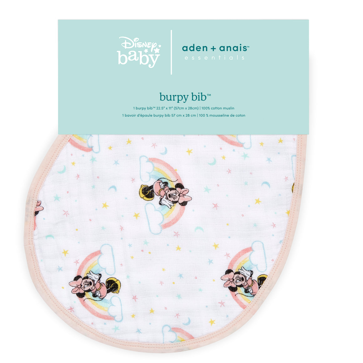 aden + anais essentials DISNEY Minnie single burpy bib