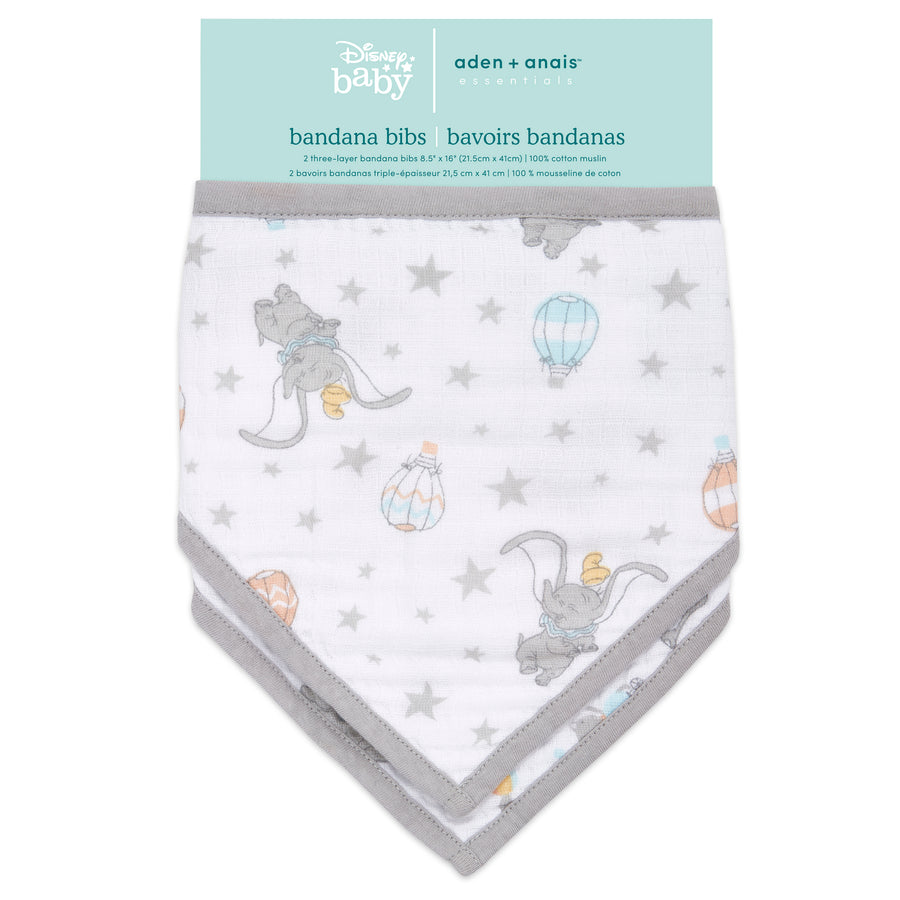 aden + anais essentials DISNEY Dumbo bandana bib 2-pack
