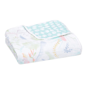 aden + anais essentials tropicalia jungle bird dream blanket