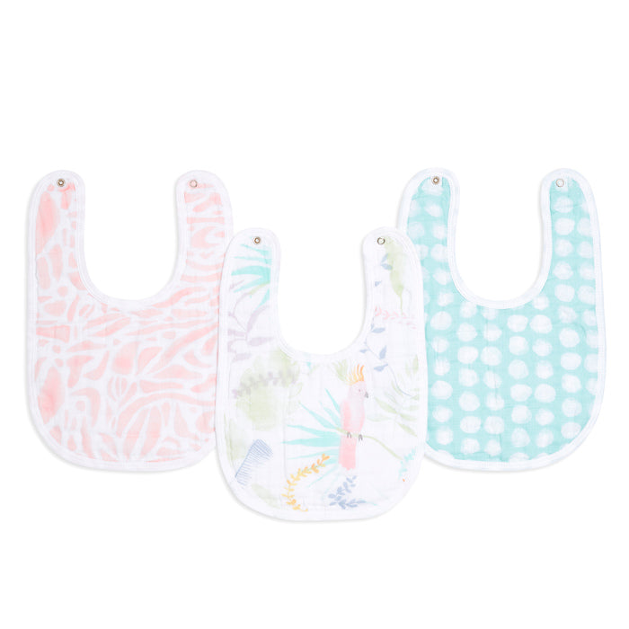 aden + anais essentials tropicalia 3pk snap bibs