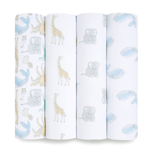 aden + anais essentials natural history 4-pack swaddles