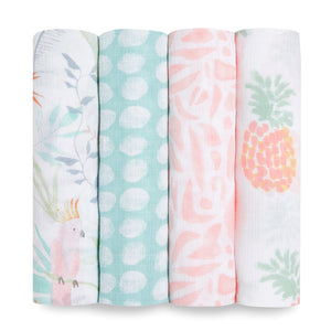aden + anais essentials tropicalia 4-pack swaddles