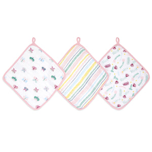 aden + anais essentials floral 3 pack muslin washcloths