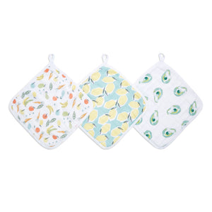 aden + anais essentials farm to table 3 pack muslin washcloths