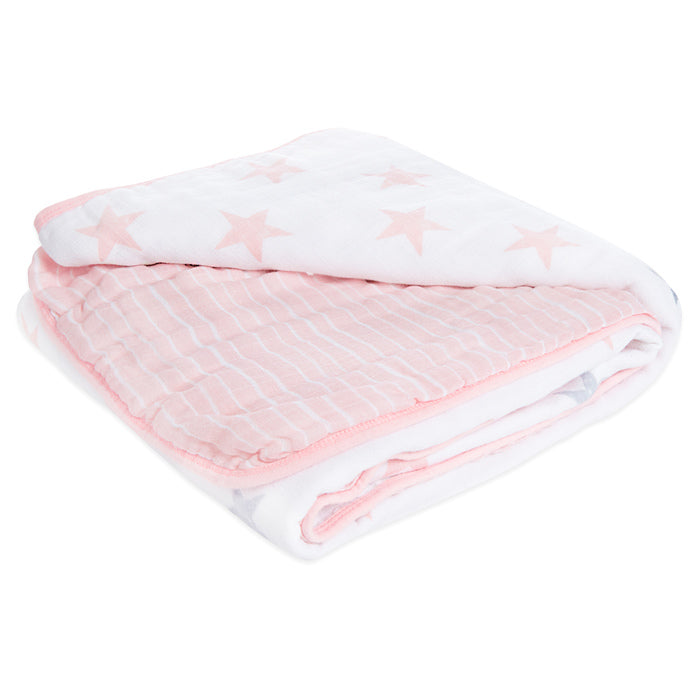 aden by aden + anais large classic muslin dream blanket (pink, blue or grey)