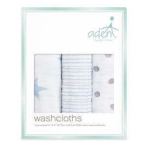 aden by aden + anais: dapper: soft muslin washcloths