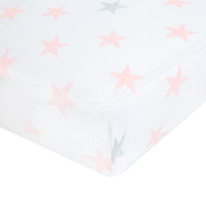 aden by aden + anais: doll stars: classic muslin fitted cot sheet