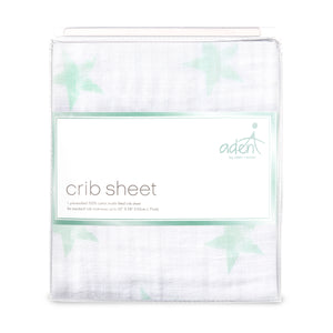 aden by aden + anais: dream stars: classic muslin fitted cot sheet
