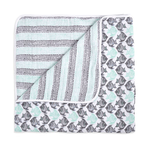white label seaside classic muslin dream blanket