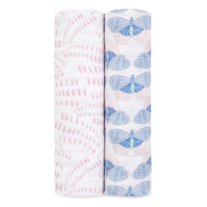 aden + anais deco 2-pack muslin swaddles