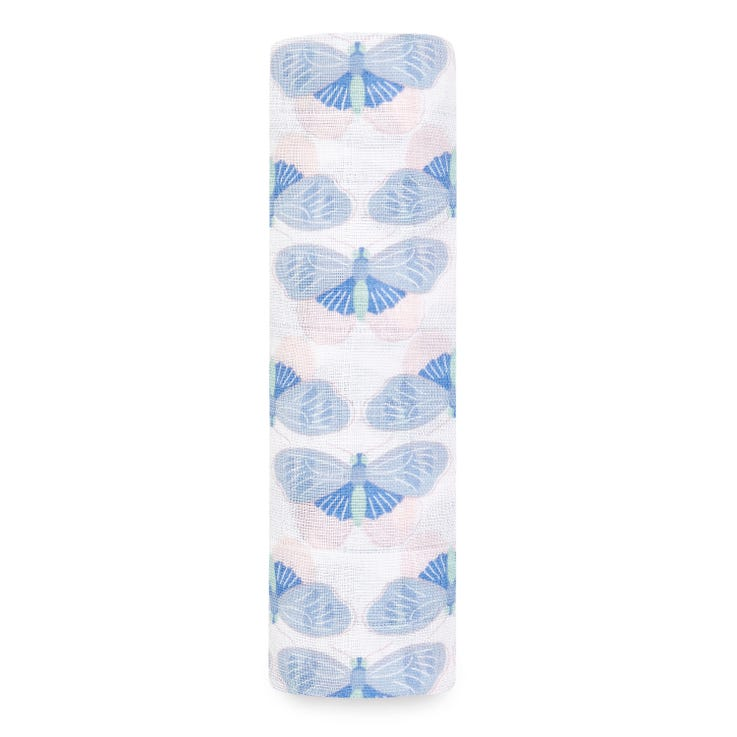 aden + anais deco butterflies muslin swaddle single