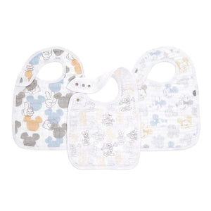 aden + anais Mickey + Minnie 3-pack classic snap bibs