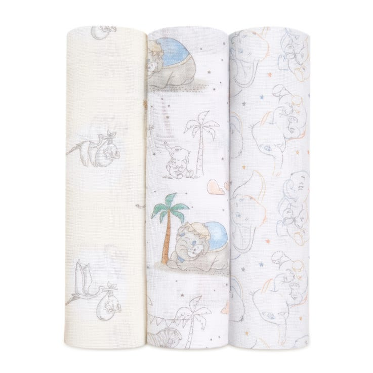 aden + anais Disney My Darling Dumbo 3pk swaddles