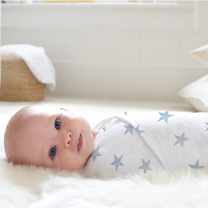 aden by aden + anais: dapper - stars: muslin classic swaddle single