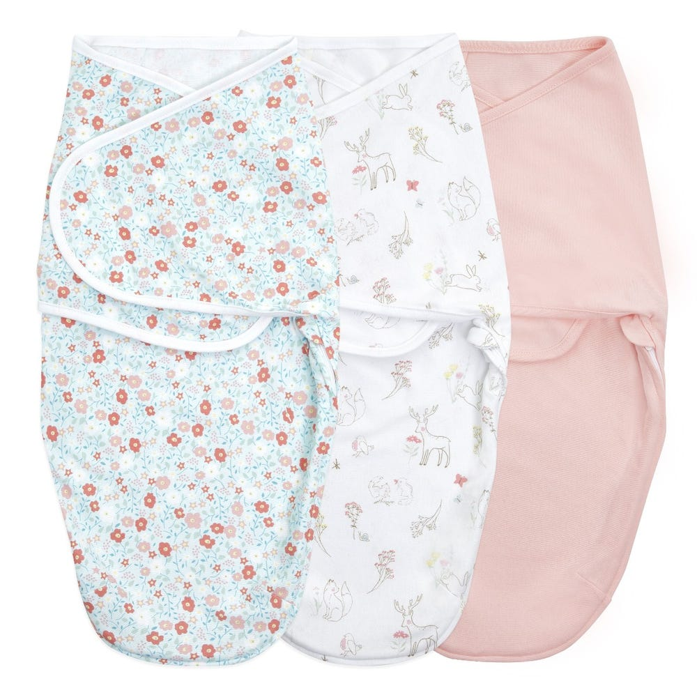 Essentials wrap swaddle 3pack - Fairy Tale Flowers 0-3 months