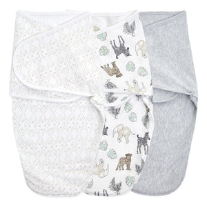 Essentials wrap swaddle 3pack - Toile 4-6 months
