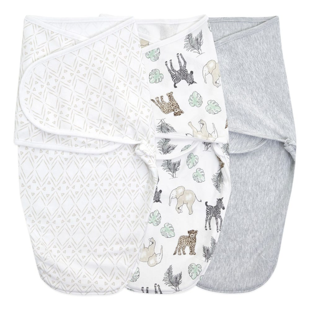 Essentials wrap swaddle 3pack - Toile 0-3 months