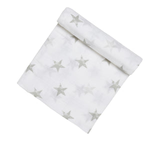aden by aden + anais: dusty - stars: muslin swaddle single