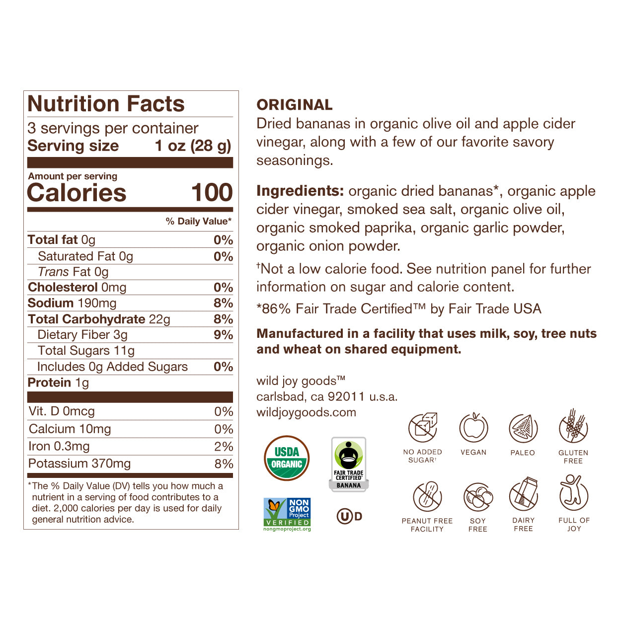 Original Nutrition Facts