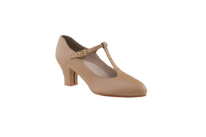 Capezio Jr. Footlight T-Strap Caramel