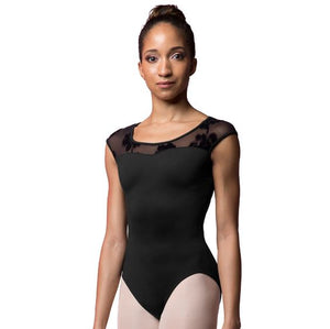 Bloch Rose Mesh Cap Sleeve Leotard