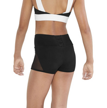 Load image into Gallery viewer, Bloch Mesh Panel X Back Detail Girls Short