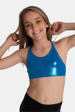 Load image into Gallery viewer, Sylvia P Turquoise Mystique Crop Top (Child)