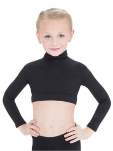 Capezio Turtleneck Long Sleeved Crop Top