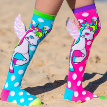 Load image into Gallery viewer, MadMia 'FLYING UNICORN' Socks
