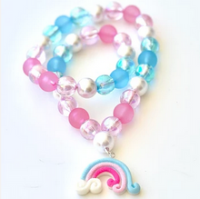 Load image into Gallery viewer, Sweet As Sugar 'Pink/Blue Rainbow' Beaded Necklace