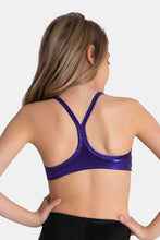 Load image into Gallery viewer, Sylvia P Purple Mystique Crop Top (Child)