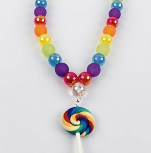 Sweet As Sugar 'Rainbow Lollipop' Beaded Necklace