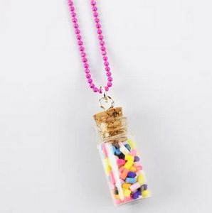 Sweet As Sugar 'Jar of Sprinkles' Chain Necklace