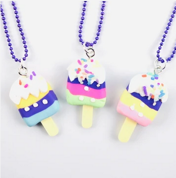 Sweet As Sugar 'Striped ice cream' Chain Necklace