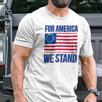 Load image into Gallery viewer, For America We Stand T-Shirt