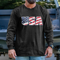 Load image into Gallery viewer, Vintage USA Flag Long Sleeve