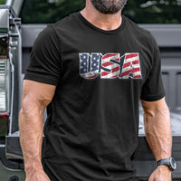 Load image into Gallery viewer, Vintage USA Flag T-Shirt VIP