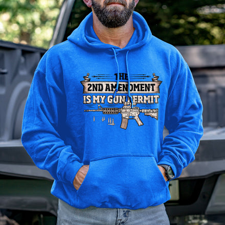 Load image into Gallery viewer, 2nd Amendment is my Permit Hoodie