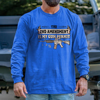 Load image into Gallery viewer, 2nd Amendment is my Permit Long Sleeve VIP