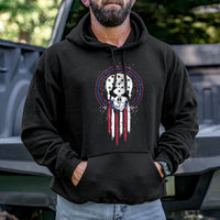 Load image into Gallery viewer, Skull Holding Flag Permit Hoodie