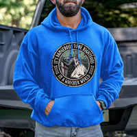 Load image into Gallery viewer, It's Dangerous to be Righteous Hoodie