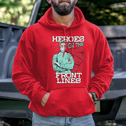 Load image into Gallery viewer, Heroes on the Front Lines Hoodie