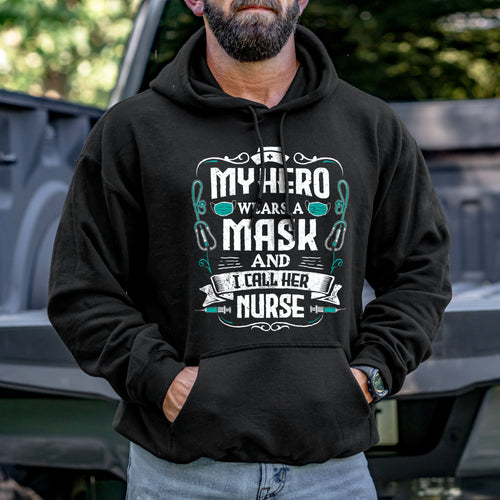 My Hero Wears a Mask Hoodie