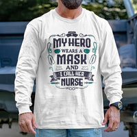 Load image into Gallery viewer, My Hero Wears a Mask Long Sleeve