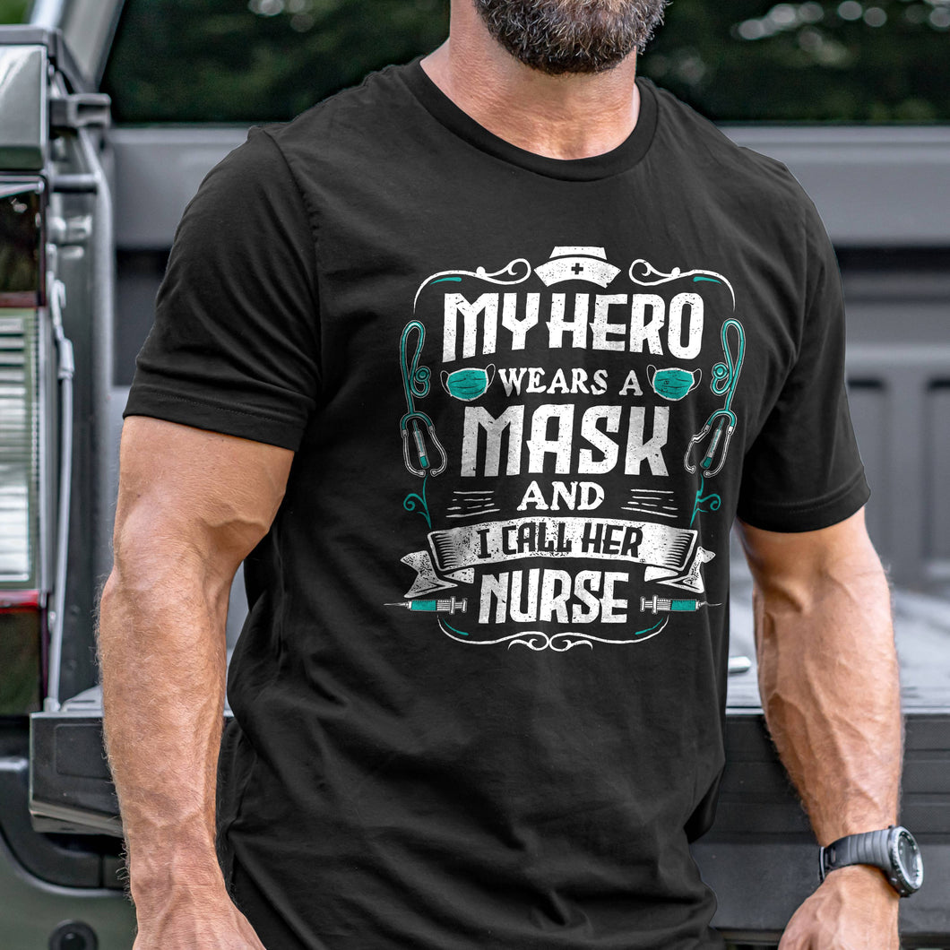 My Hero Wears a Mask T-Shirt VIP