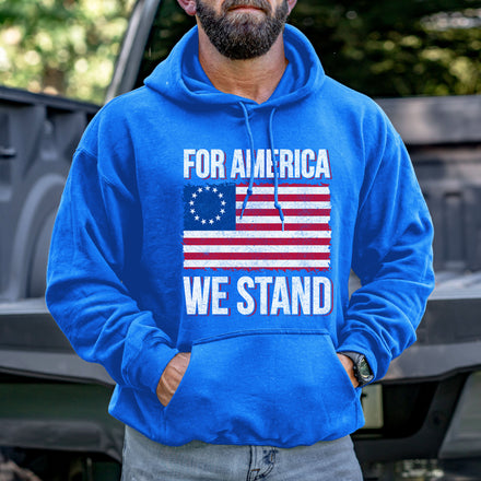 Load image into Gallery viewer, For America We Stand Hoodie