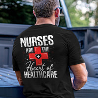 Load image into Gallery viewer, Nurses are the Heart of Healthcare T-Shirt VIP