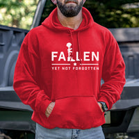 Load image into Gallery viewer, Fallen Yet Not Forgotten Logo Hoodie
